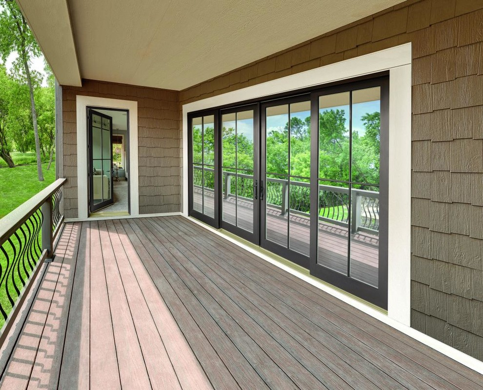 Integrity Sliding French Doors From Marvin Windows And Doors Modern Porch Atlanta By Avi Windows Doors