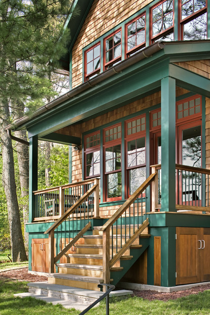 Interior And Exterior Views Rustic Porch Bridgeport