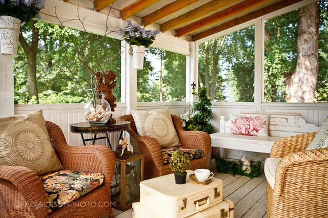 Interior Screened Porch : Interior designs rustic porch kansas city by chad