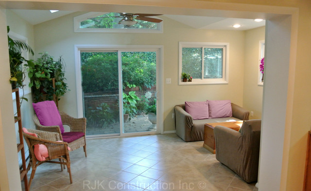 Interior Sunroom Addition traditional-porch