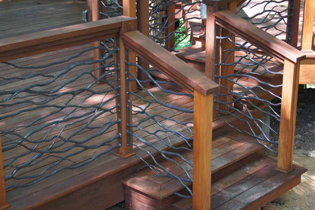 Ipe Deck With Custom Railing Traditional Porch Other