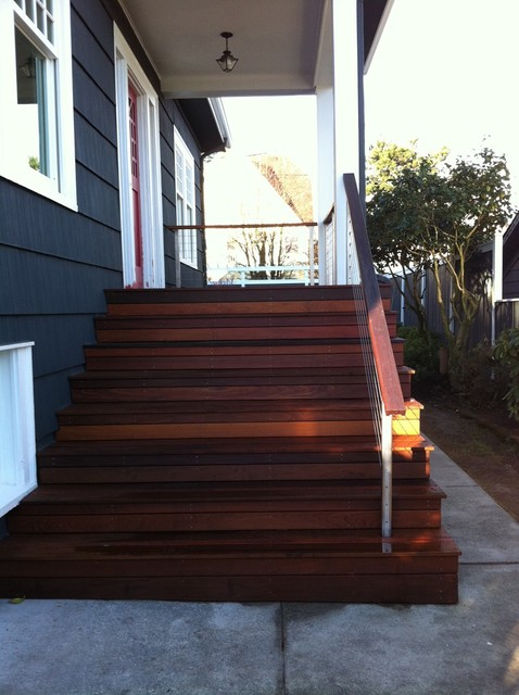Ipe Front Porch Contemporary Porch Seattle By Blue
