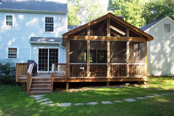 Ipe Screen Porch And Deck In Cross River Ny Traditional
