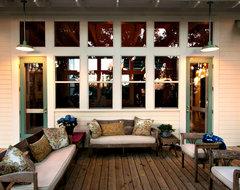 Island Grove Estate Outdoor Living Area tropical-porch