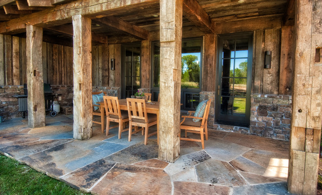 Jackson WY Country Home Rustic Porch Other Metro