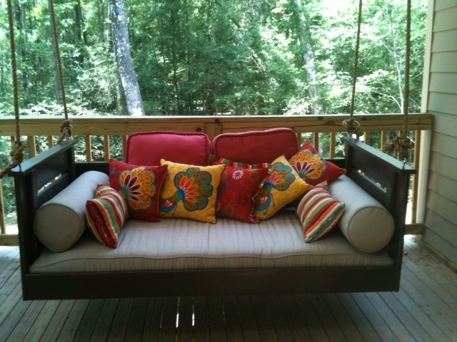 Joshua Bed Swing from Vintage Porch Swing - Charleston SC traditional-porch