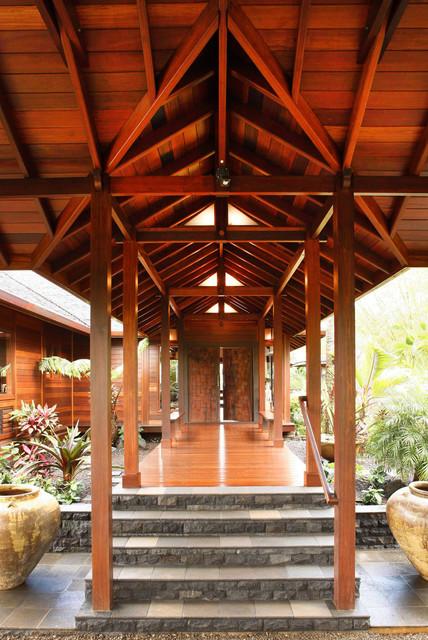 Kauai Lake Front Estate Tropical Verandah Hawaii By Tropical Architecture Group Inc