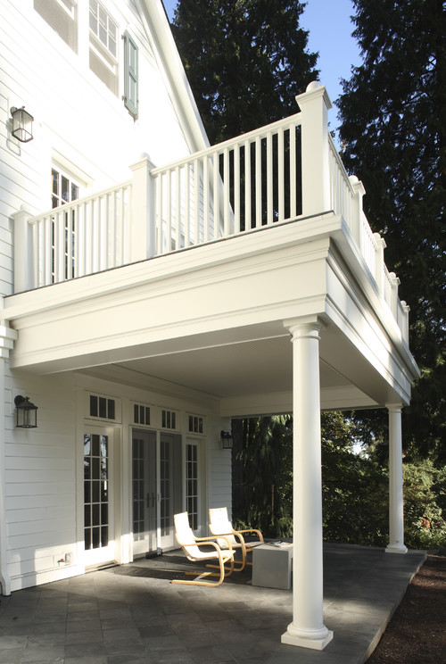How Can I Build The Covered Porch With A Balcony On Top And The Best Solution For Waterpfoof The