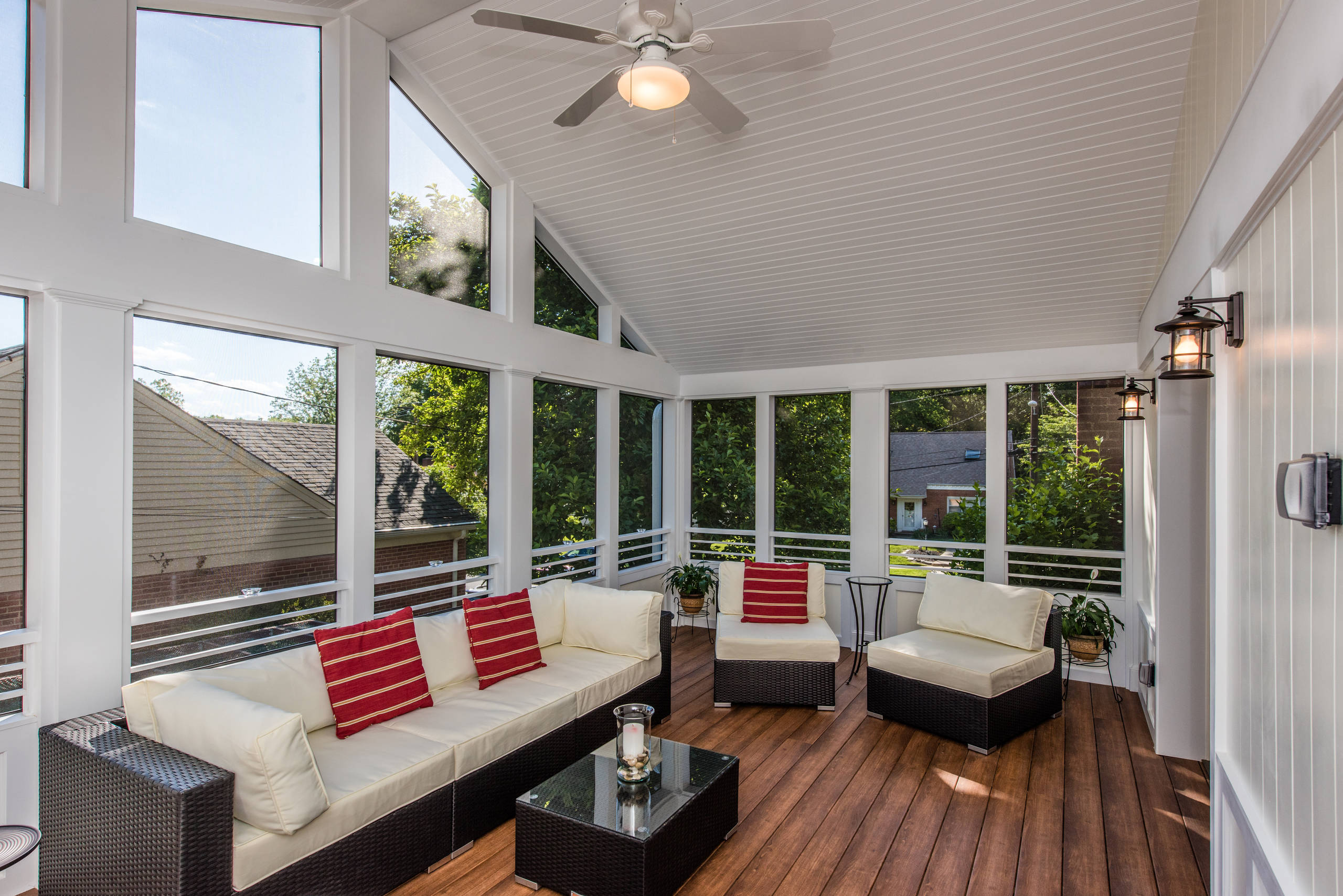 Kensington, MD Cathedral-Ceiling Screened Porch