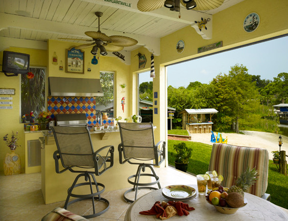 Key West Feel For A Lakefront Orlando Home Beach Style Porch Orlando By Jonathan Mcgrath