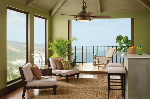 Kichler Hatteras Bay Outdoor Patio Ceiling Fan Tropical