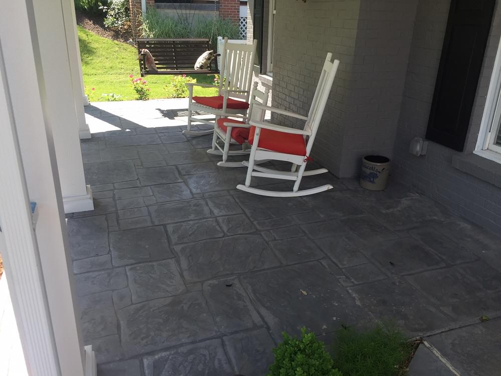 Kirkwood, MO. Stamped concrete porch