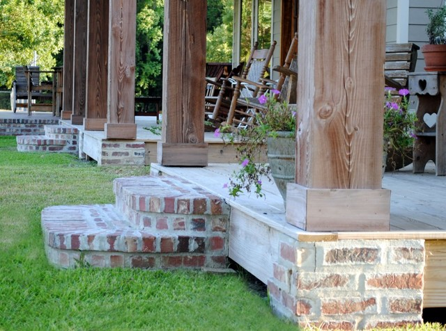 Kulbeth farmhouse porch new orleans by m h for Cypress porch columns