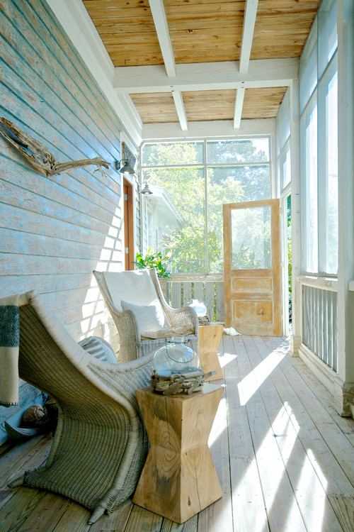 Beach Style Porch by Amelia Island Architects & Building Designers Starr Sanford Design