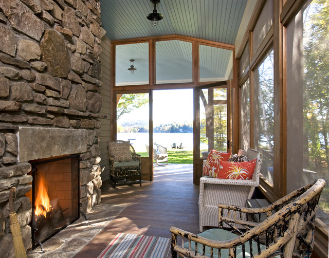 Lake House traditional-porch