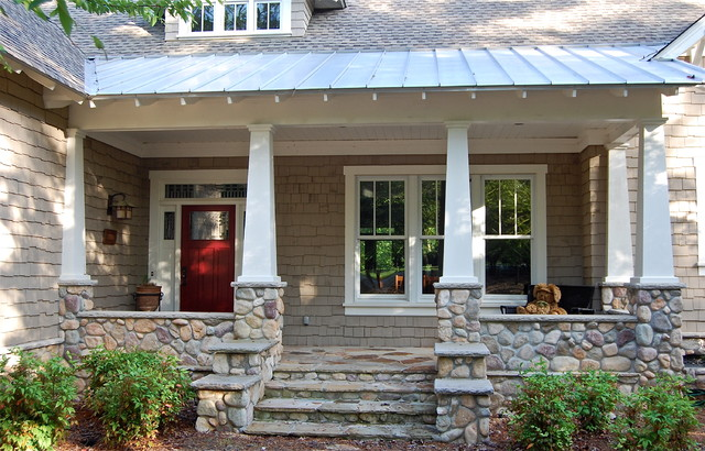 Lake oconee craftsman for Traditional porch