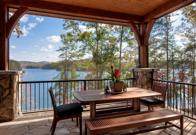 Lakefront Residence III - The Reserve at Lake Keowee rustic-porch