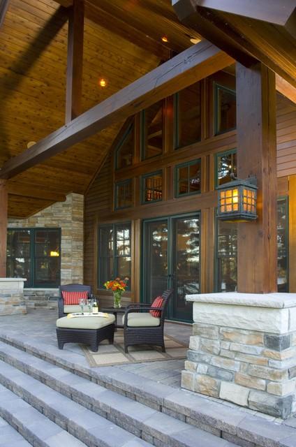 Lakeside Porch rustic-porch