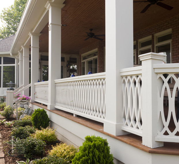Large Double Porch in Nashville's Brentwood Area traditional-porch