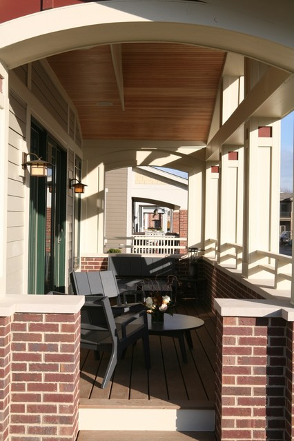 Libertyville Not So Big Showhouse Rustic Porch