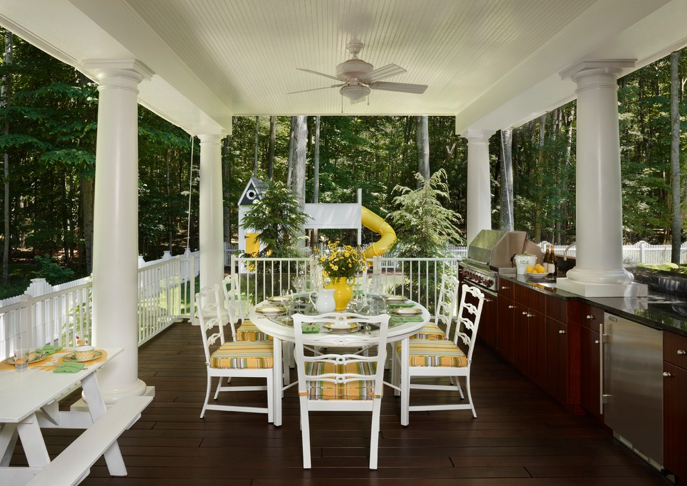Classic back porch idea in Other