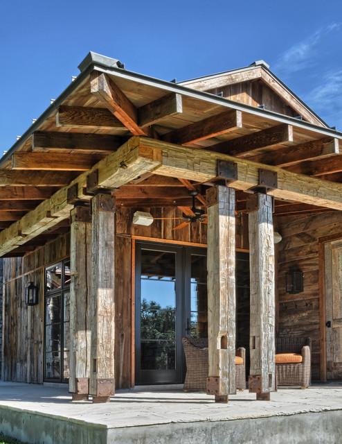 Llano Ranch - Rustic - Porch - austin - by Cornerstone Architects
