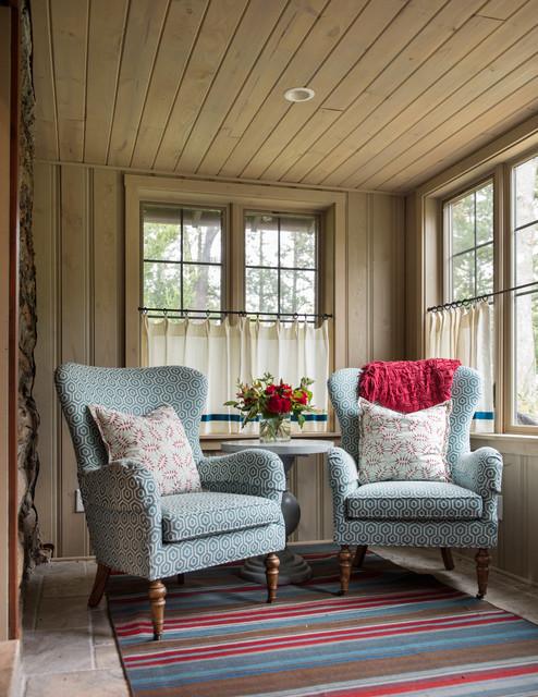 Log Cabin Rustic Porch Kansas City By Interior