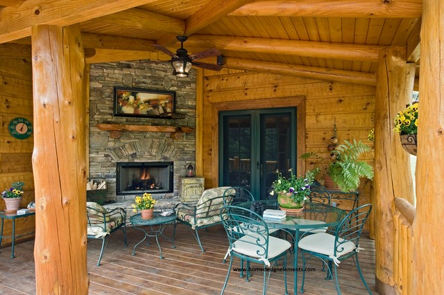 log home edenfield traditional porch other by
