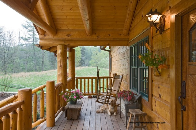 Log home edenfield traditional porch other by for Log cabin porches and decks