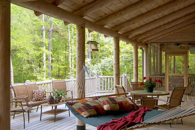 log home lavely traditional veranda other by