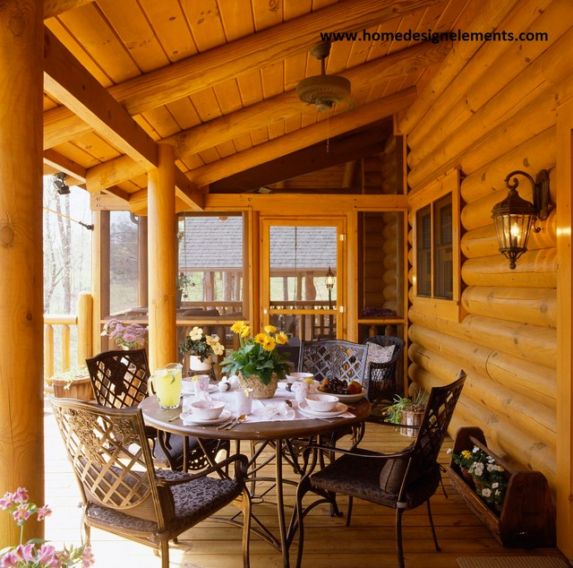 log home tysinger traditional porch other metro