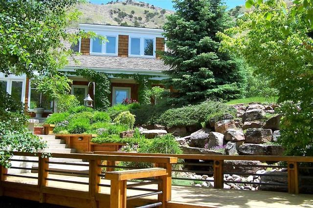 Logan Canyon House contemporary-porch