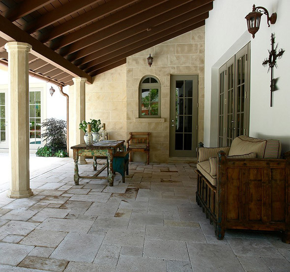 Loggia for Mediterranean deck designs