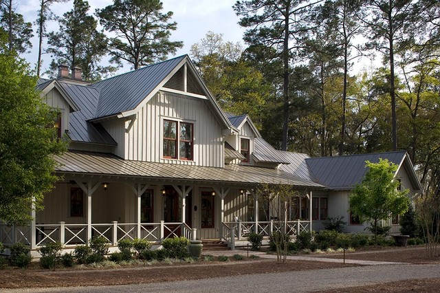 Lowcountry residence for Farmhouse metal roof