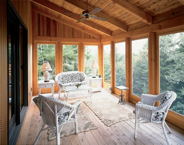Maine Island Passive Solar Traditional Porch Other