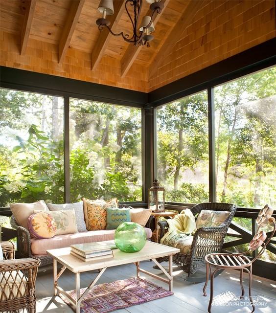 Seal Harbor Maine Farmhouse Porch Portland Maine By Liz Mccabe Interior Design