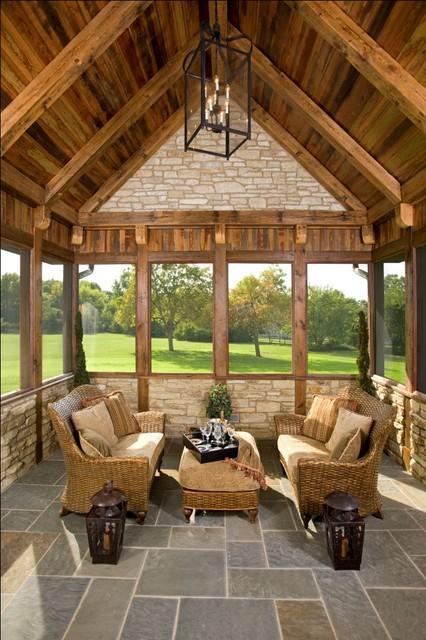 Mare Barn Sun Rooms rustic-porch