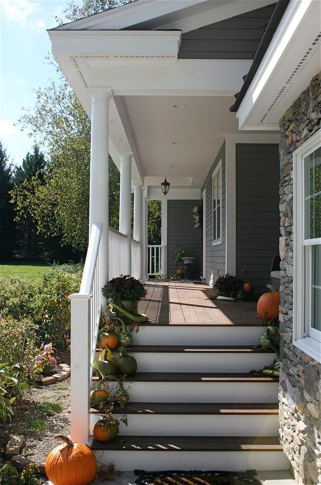 Classic front porch idea in Boston