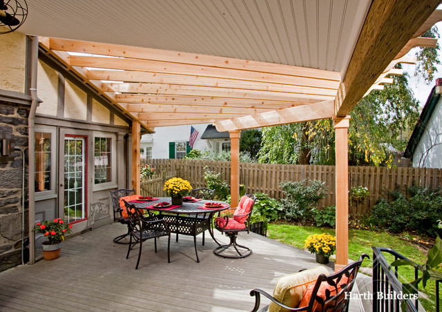 Beautiful Merion Station Roof And Trellis Porch