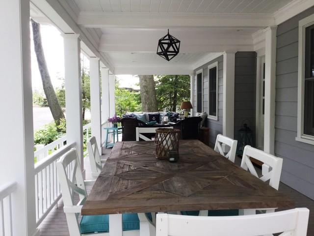 Michigan Beach House Beach Style Porch St Louis By