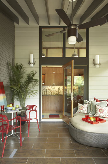 Mid-Mod Screened Porch modern-porch