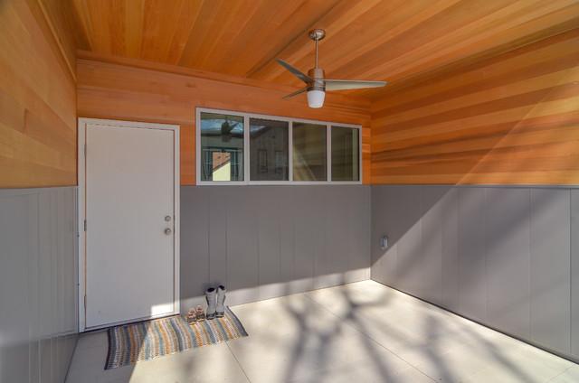 Minneapolis Tudor Receives a Modern Face Lift contemporary-porch