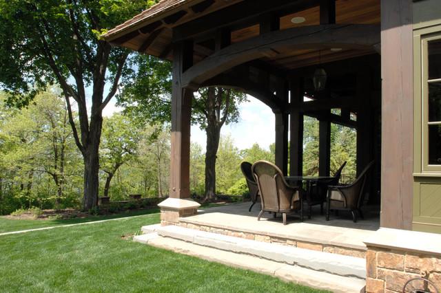 Minneapolis Tudor Residence traditional-porch