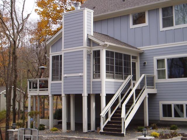 Minnetonka screen porch craftsman porch minneapolis for Craftsman screened porch