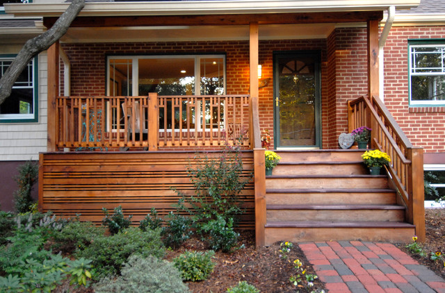 Mission style front porch in fairfax va for Craftsman style front porch