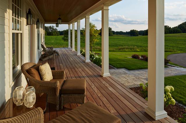 Modern farmhouse country veranda minneapolis by for Modern veranda designs