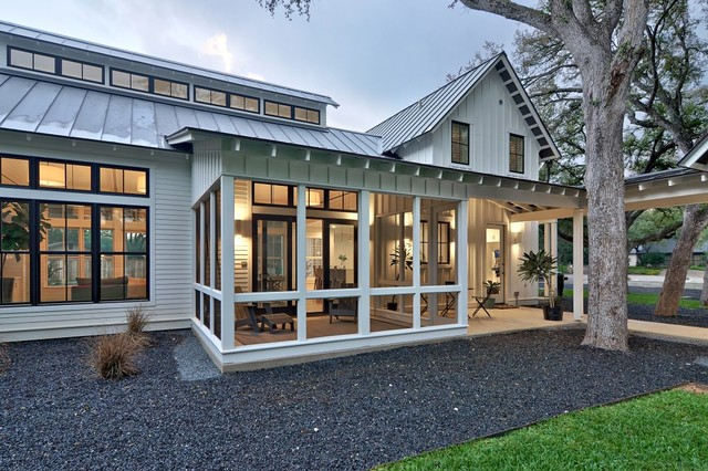 Modern Farmhouse Country Veranda Austin By Redbud