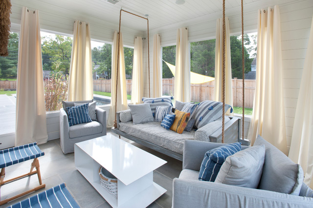 Modern Farmhouse Screened-in Porch - Farmhouse - Porch ...