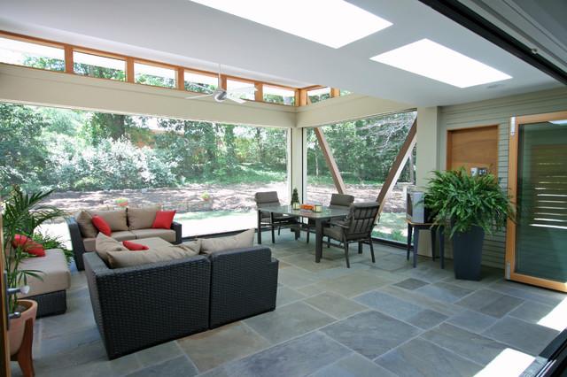 Modern Porch Addition contemporary-porch