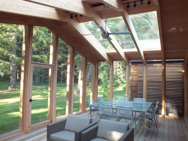 modern screened in porch modern verandah boston by red house design. Black Bedroom Furniture Sets. Home Design Ideas